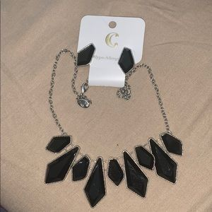 Charming Charlie black and silver set
